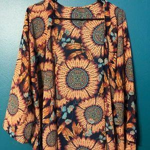 Sunflower-Dream Catcher Kimono